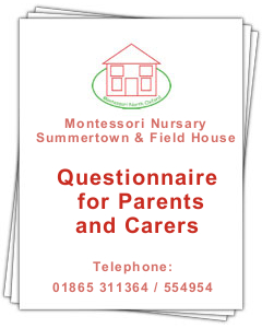PDF document: Questionnaire for Parents and Carers